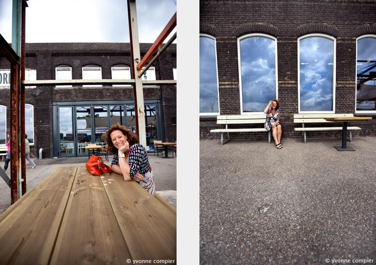 Isa Maron, schrijfster geinterviewd en gefotografeerd bij restaurant Stork in Amsterdam Noord.