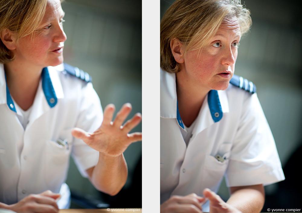 voor Factaal bij defensie foto's van Patricia XXXX die werkt als forensisch tandheelkundige