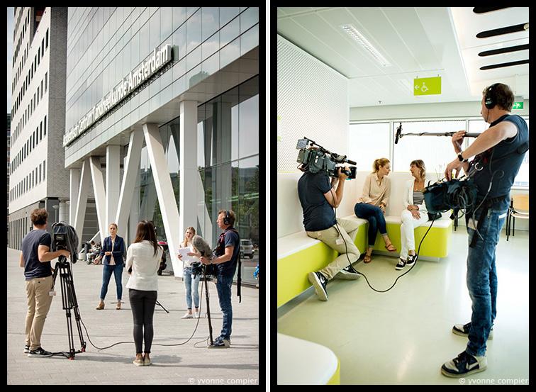 Voor de Factaal een reportage over de programmaopnames van RTL4 in het Acta gebouw. Programma Genante Tanden met Froukje de Both als presentatrice