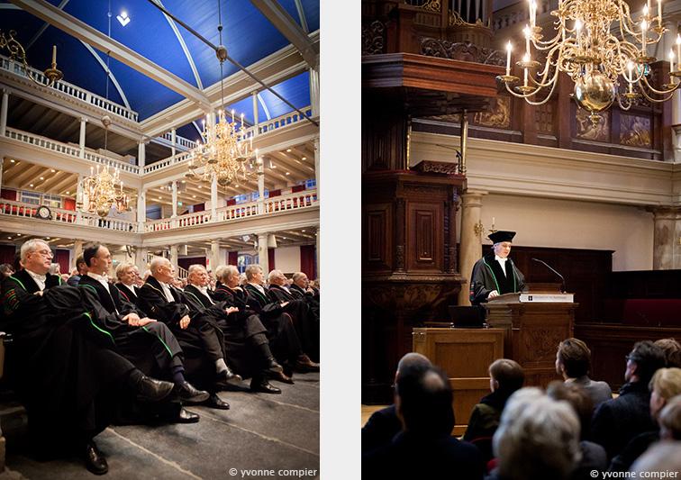 De oratie in de Lutherse Kerk en aula van de UvA van Josef Bruers. Oratie van ACTA KNMT en UvA