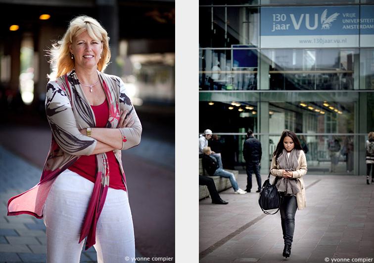 Een portret van Irma Verdonck, hoogleraar Leven met Kanker. Gefotografeerd voor het Vu Magazine