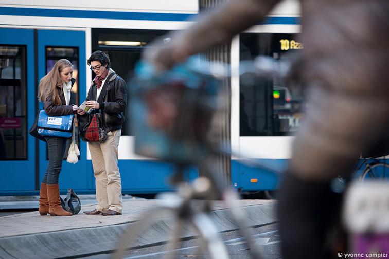 studenten in de stad, gefotografeerd voor de Bama. Kleis en Julienka op verschillende locaties