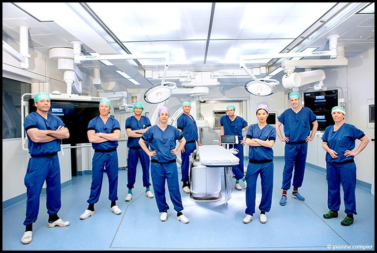 Een groepsfoto op de nieuwe OK van het Vumc